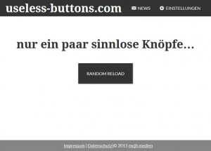 Screenshot von useless-buttons.com