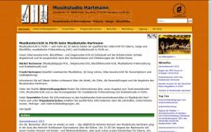 Musikstudio Hartmann neues Design
