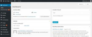 Das Dashboard von WordPress