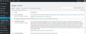 Die Pluginverwaltung im WordPress-Backend